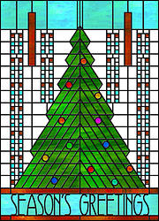 Architect's Christmas Tree Card