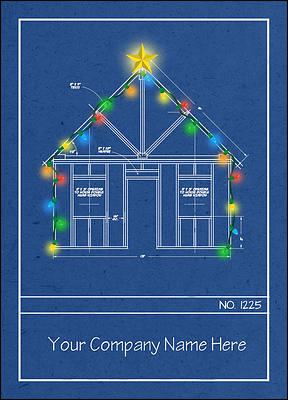 Blueprint Christmas Card (Glossy White)