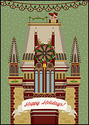 Gothic Architecture Christmas Card