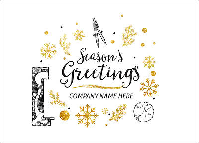 Landscape Architect Holiday Card (Glossy White)